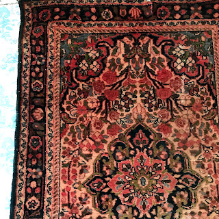Wool Floral Small Area Rug