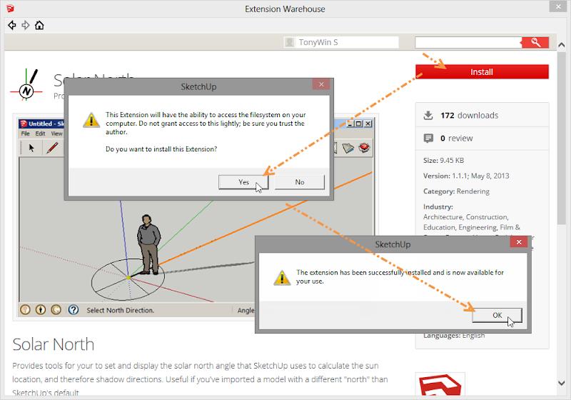 การติดตั้ง Extensions ให้กับ SketchUp 2013 และวิธีการแก้ปัญหาสำหรับ Extensions ที่ไม่ยอมทำงาน Su2013re30