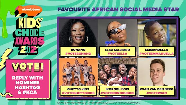 Hubtainment - Nigeria's Ikorodu Bois, Emmanuella, Master KG Nominated for 2021 Nickelodeon's Kids' Choice Awards