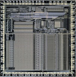 Die photo of the ARM1 processor chip. Courtesy of Computer History Museum.
