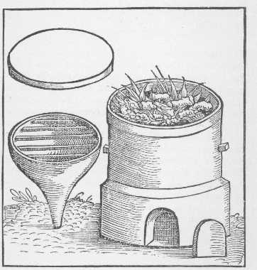 The Descensory Furnace 2 Taken From Geber Works London 1678, Alchemical Apparatus