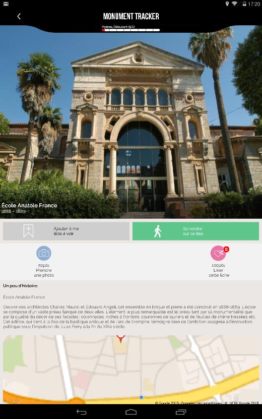 Hyères Guide Monument Tracker- screenshot