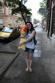 Menudas bolsas de gusanitos que venden en Cracovia