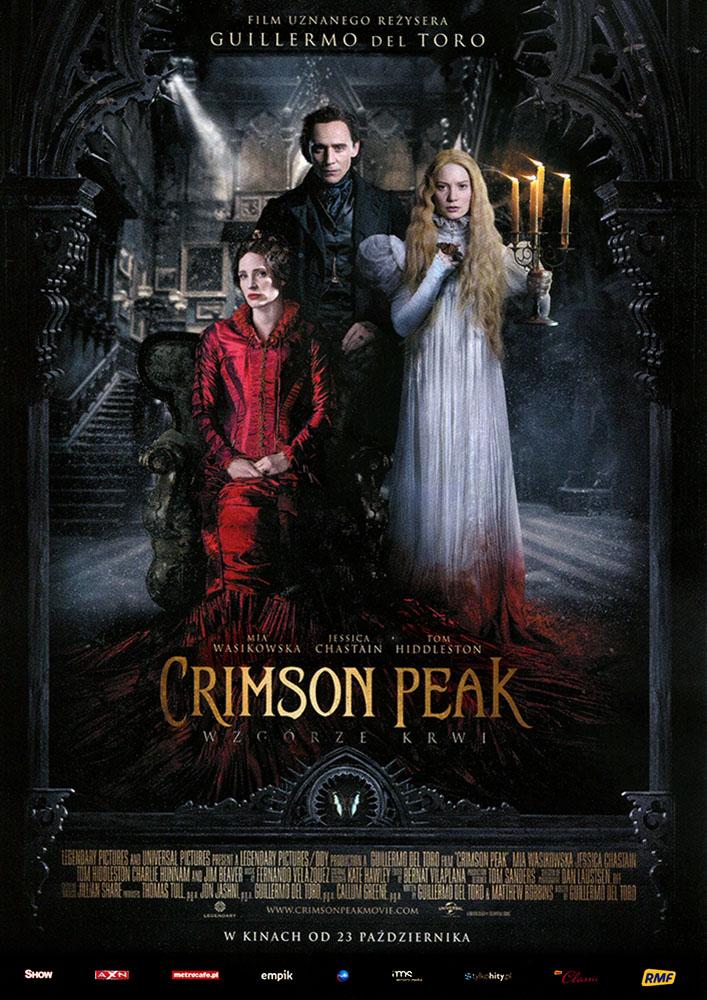 Ulotka filmu 'Crimson Peak. Wzgórze Krwi (przód)'