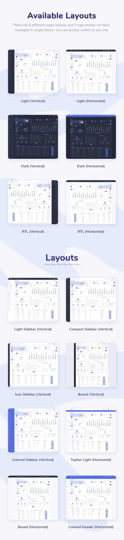 Skote - HTML & Django Admin Dashboard Template - 9