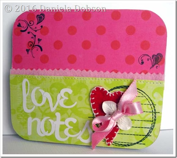 Love notes altered container