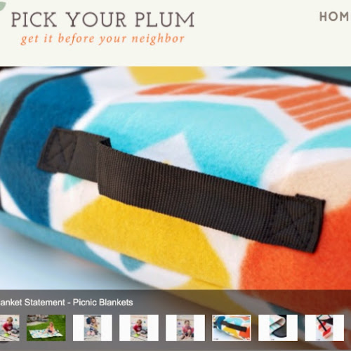 Pick your plum picnic blanket