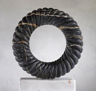 Elverben: TUNISIAN BLACK MARBLE, 2015: W 54cm, H 54 cm, D 12 cm; SOLD