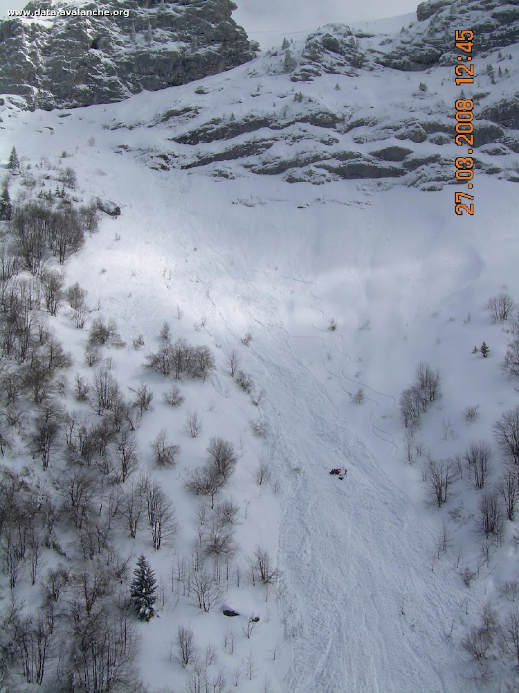 Avalanche Bauges, secteur Trélod, Dent des Portes - Photo 1