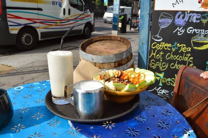 Desayuno orgánico en Camdem Town. De camino a Little Venice
