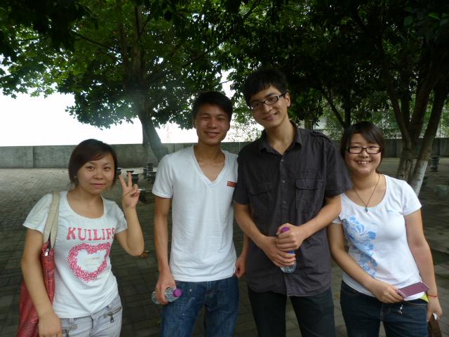 rencontre avec des lycéens,pas un mot d anglais, qui pour la première fois voyaient un laowai en chair et en os