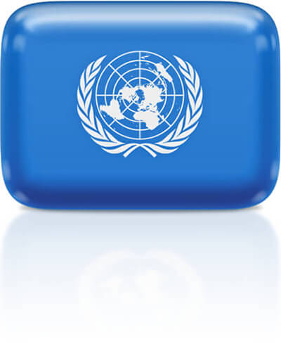 United Nations flag clipart rectangular
