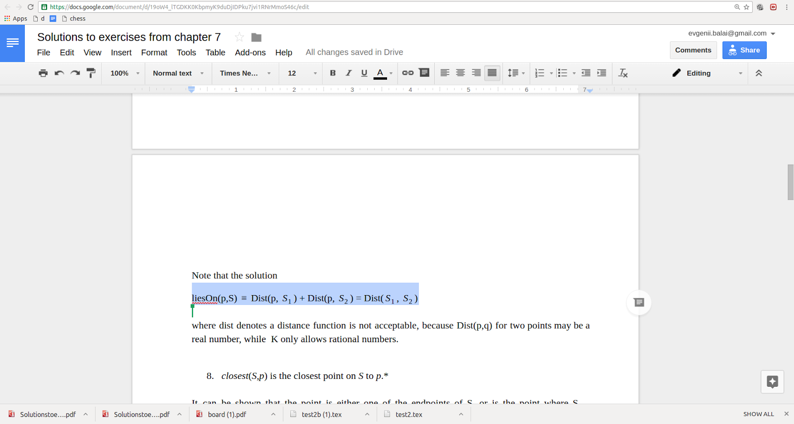 Issue with italic font and math equations in google docs