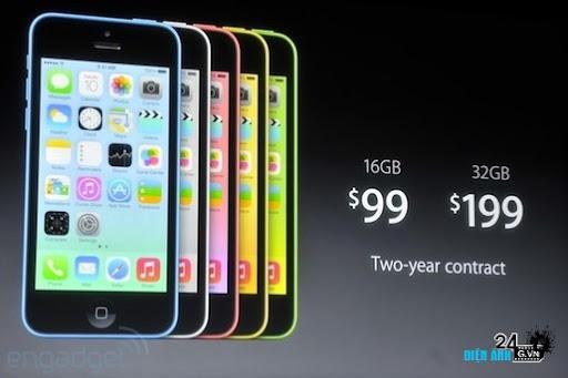 Apple công bố iPhone 5C màn hình Retina 4 inch với 5 màu sắc - DIENANH24G Apple công bố iPhone 5C màn hình Retina 4 inch với 5 màu sắc