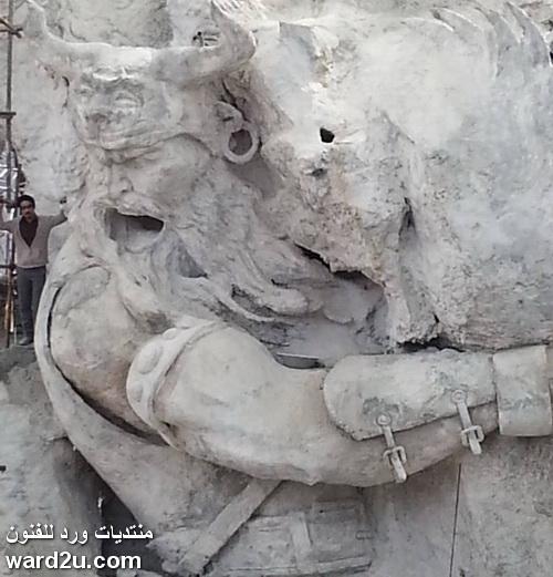 النحت على الحجر للفنان الايراني  Masood Rangrazan