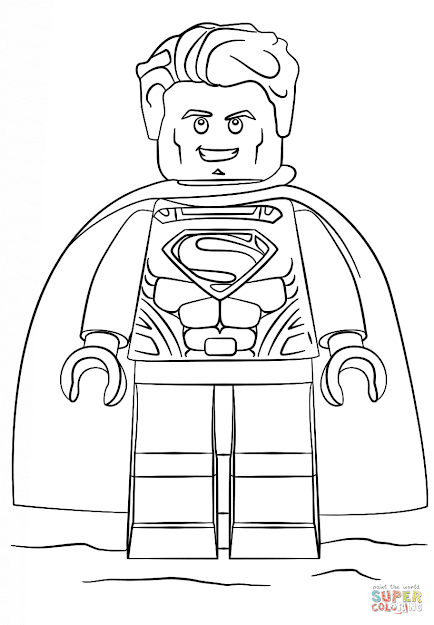 Click The Lego Superman Coloring Pages To View Printable Version Or Color  It Online Patible With Ipad And Android Tablets