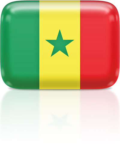 Senegalese flag clipart rectangular