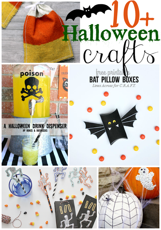 10  Halloween Crafts at GingerSnapCrafts.com #halloween #crafts