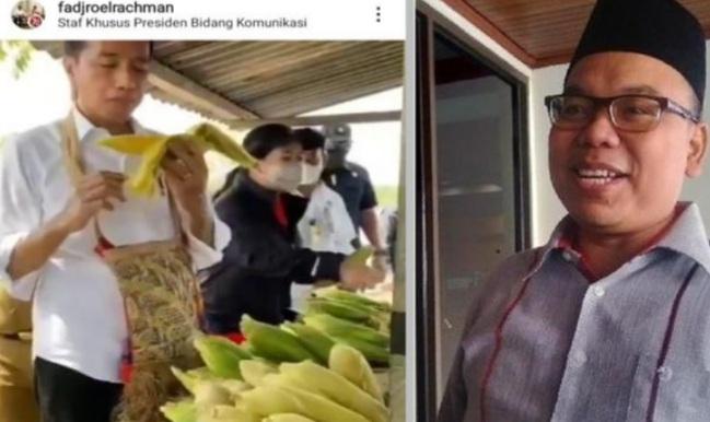 Mustofa Sindir Jokowi Mengapa Makan Berdiri dan Mengapa Memakai Tangan Kiri?