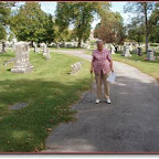 Roy Ellen Hamman searches for Gleaves Graves Spring Hill Cemetery Nashville, Tennessee
