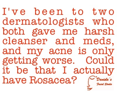 This is a question I hear often.  Sometimes doctors can't even tell someone has rosacea!  Find out more on the AcneWhisperer Blog.