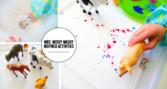 Mrs. Wishy Washy Inspired Art Activities