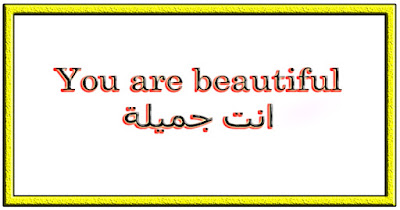 You are beautiful انت جميلة