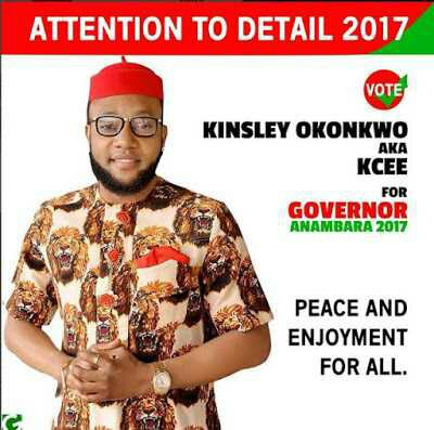 KCee announces bid for Anambra State Governorship Election 2017