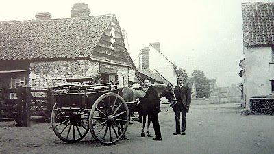 The blacksmith's workshop (now demolished), Hauxton Road, Little Shelford