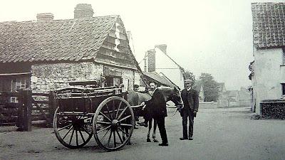 The blacksmith's workshop (now demolished), Hauxton Road, Little Shelford