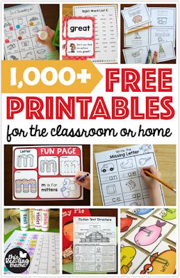 free home school printables