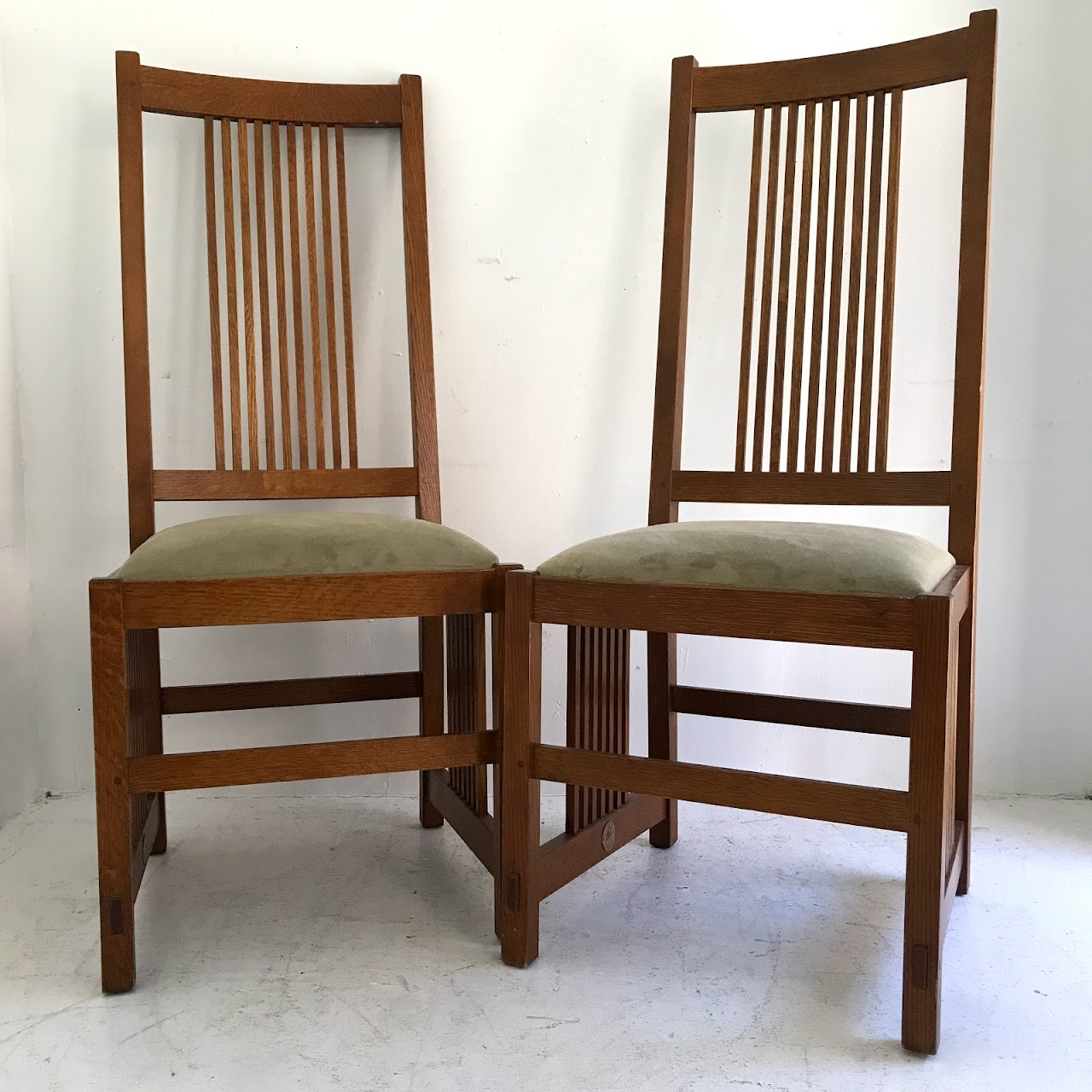 Stickley furniture mission oak side chair pair 1 shophousingworks