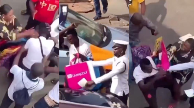 Pickpocket receives slap from woman he tried stealing from (video)
