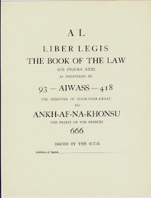 Cover of Aleister Crowley's Book Liber 220 AL vel Legis The Book Of The Law Scans