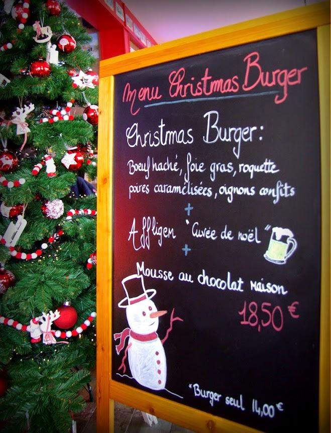 le menu de noel au Fifty's le Havre