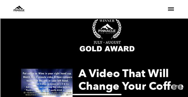 [ 美國洛杉磯巔峰國際影展 ]2021年7~8月  影片:三分鐘質能轉換 得奬:最佳紀錄短片金牌奬 https://vimeo.com/594670127/1fcefd9661 內容:台灣氣功大師萬真師父透過宇宙能量、只要準備酒或咖啡...打開影片視頻觀看影片酒或咖啡就會接收到能量味道改變。 製作:王世昀導演