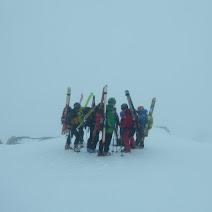 Fotos da ascensión ó Peña Orniz en esquí de montaña con Celtas, 9 de febreiro de 2019.