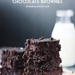 Gluten-Free Fudgy Flourless Chocolate Brownies.
