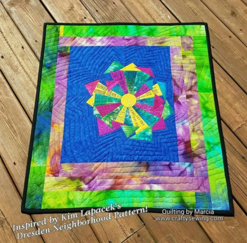 Dresden Neighborhood Quilt by Marcia Wachuta of Marcia's Crafty Sewing & Quilting