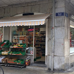 budget convenience store Geneva at Rue de Zurich in Geneva, Geneva, Switzerland