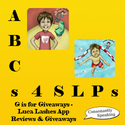 ABCs 4 SLPs: G is for Giveaways - Luca Lashes App Reviews and Giveaways image