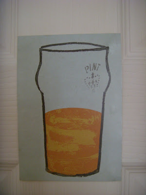 パイントグラスの絵