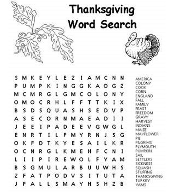Easter Coloring Pages And Word Searches Thanksgiving Coloring Pages And Word  Searches In Thanksgiving For Kids
