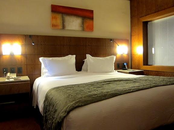 Bedroom in the Sofitel hotel in Rio de Janeiro Brazil