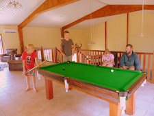 A competitive game of pool!