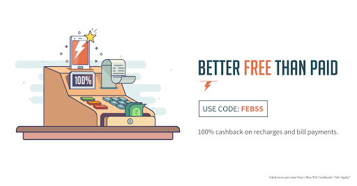 [Updated] Freecharge FEB55 : Get 100% Cashback on Recharge and Bill Payments (New Users)