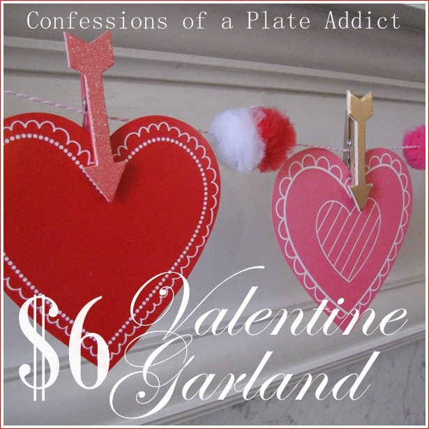 CONFESSIONS OF A PLATE ADDICT $6 Valentine Garland