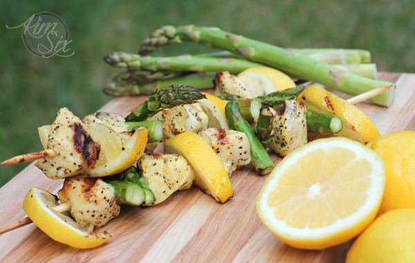 Lemon Chicken Asparagus Kabobs
