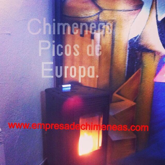 Chimeneas picos de europa estufa de pellet para calentar - Calefaccion lena radiadores ...