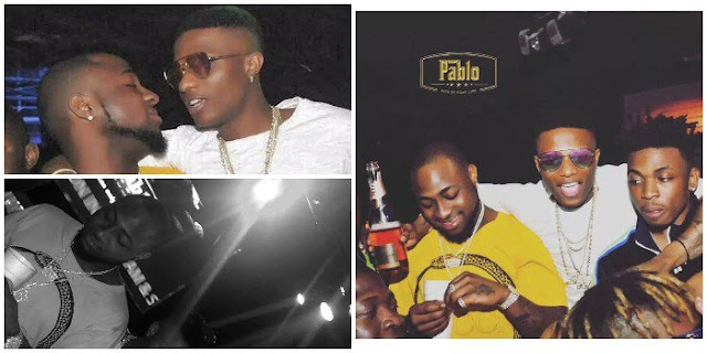 See More Photos and Video of Davido and Wizkid Partying Together (Must See)